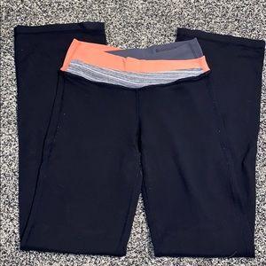 Lululemon legging pants black orange size 4